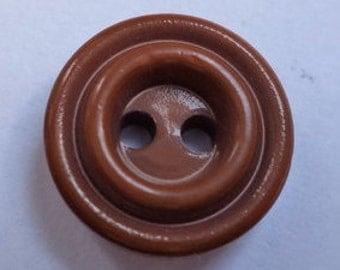 10 small dark brown buttons 13mm (2574 button Brown)
