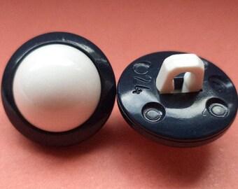 16 mm (5661) knob 10 buttons white dark blue