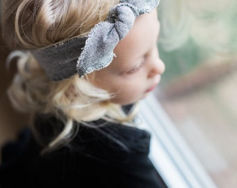 Girls Adjustable Knotted Headband/Headwrap