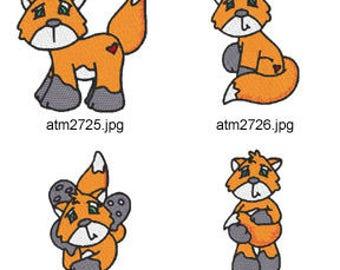 Foxy ( 7 Machine Embroidery Designs from ATW ) XYZ17D