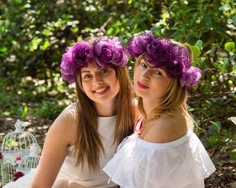 Sisters headband, Big Sister Headband, Adult headband, Girls headband, Purple Headband, Friends Headband, Wedding Headband, Bridal Headband
