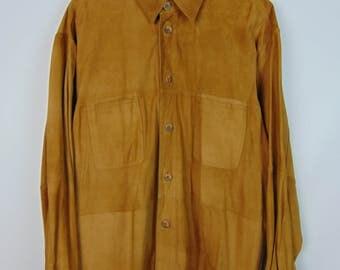 Vintage Tan Suede Shirt
