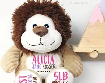 Custom Baby Birth Stats Plush Toy | 4 to Choose | Nursery | New Baby | Baby Keepsake