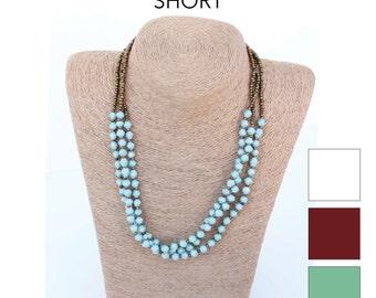 Micro Bead 3-Strand Necklace (Short)