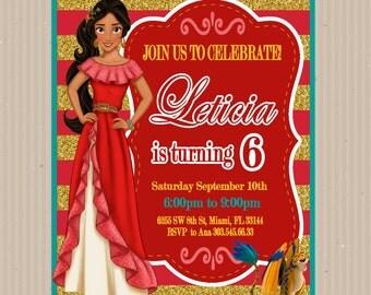 Elena of Avalor, Invitation, Disney, Elena of Avalor Custom, Elena of Avalor Printable, Birthday