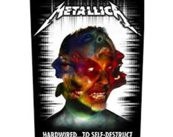 METALLICA  'Hardwired to Self-Destruct sew on backpatch