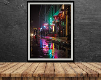 Neon Rainbow // Poster, Photography, Berlin, Neon, Lights, Image, Picture, Portrait Format, Wall Decor, Home Decor, urban, mood, vibe, city