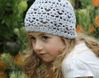 Girls crochet hat - wool or cotton