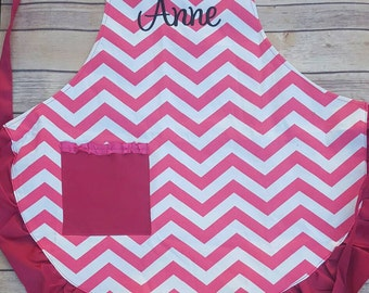 Monogrammed Chevron apron, Personalized gift, Personalized aprons, aprons, womens aprons, cooking aprons, baking aprons, monogram apron