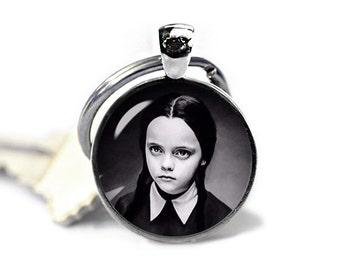 Wednesday Addams Key Ring Wednesday Addams Keychain Addams Family Geeky Fangirl Fanboy