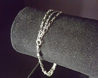 Brilliant Multiple Silver Chain Bracelet