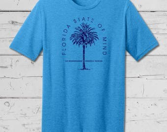 """Florida Native """"Florida State of Mind"""" Tee, Summer Beach Wear, Summer Collection, Soft comfy mens and ladies tees and tanks."""