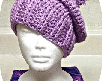 Made To Order Crochet Pom Pom Hat, Winter Hat, Pom Pom Beret