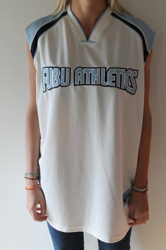 Nice hot sale FUBU Athletics vintage 90's jersey white and by  for cheap
