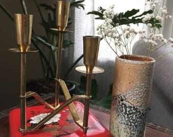 Vintage Brass Candlestick Holder