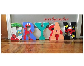 Elmo wall letters