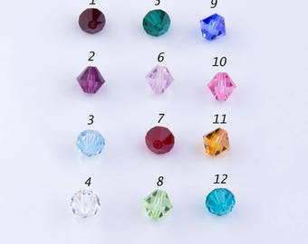 6mm Bicone Faceted (#5301) Swarovski Crystal Beads, Birthstone, Birthday Gift, Mothers Day, Birth Month,Multicolor,Priced per 30 pieces,CB05
