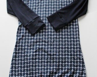 Tunic Navy anchor for woman