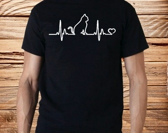 Cat Heartbeat T Shirts