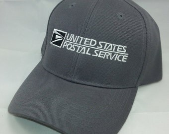 USPS Embroidered Baseball Cap2 / Color: Dark Gray w/ White Embroidery Adjustable Velcro OSFM / United States Postal Service