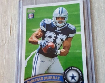DeMarco Murray Topps Rookie Card! True Rookie, OU Sooners, Dallas Cowboys, Tennessee Titans, Oklahoma,