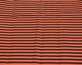 Orange and Black Striped Cotton Fabric from JoAnn Fabrics