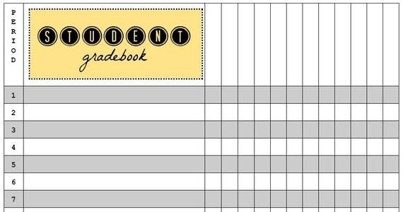 Student Gradebook Template | Teacher | Attendance | Classroom