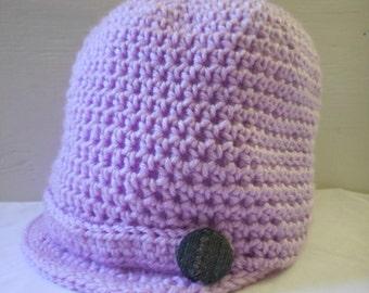 Purple Newsboy Hat - Newsboy Cap - Crochet Newsboy Hat - Womens Newsboy Hat - Newsboy Hat Women - Gift for Her