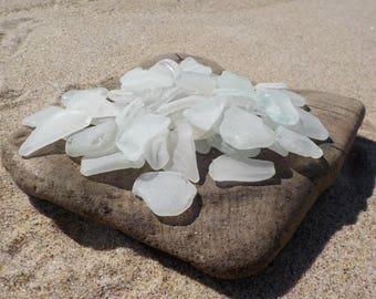"20 pcs white smoothed Sea Glass 0.8-1,2""-Genuine Sea Glass Bulk-For Jewelry Art, Mosaic, Home -Wedding decor#23B#"