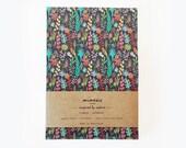 libreta floral, libreta flores, libreta ilustrada, cuaderno, cuaderno botánico, libreta papel reciclado, papelería bonita, libreta A5