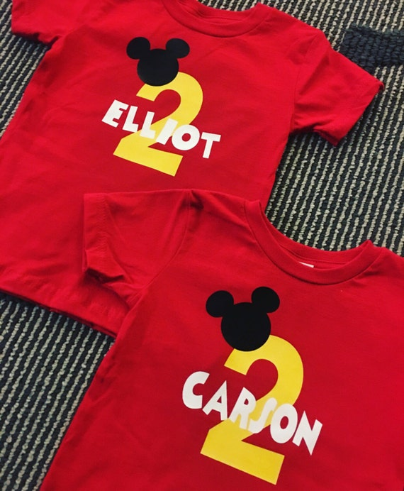 Mickey Mouse Kids Birthday Party Shirts
