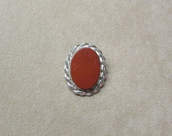 Large Jasper STERLING silver Pin/Pendant.