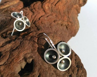 "Silver earrings ""Blossom"""