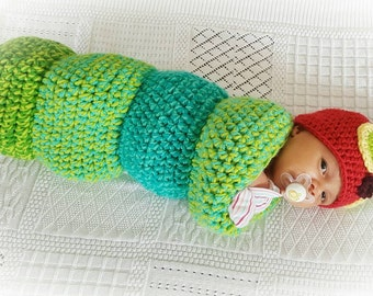 A Hungry Caterpillar Cocoon and Hat set
