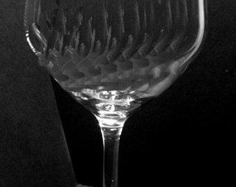 Custom hand engraved glass