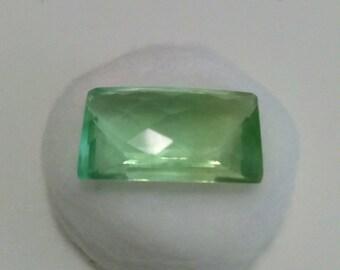 Natural Green Fluorite Gemstone, Emerald Cut Green Fluorite Loose Gemstone