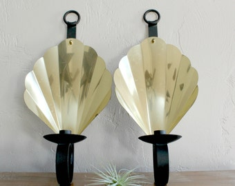 brass wall sconce pair candle wall sconce wrought iron sconce retro candle sconce