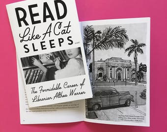 Read Like a Cat Sleeps Zine - gifts for book lovers - bookish -