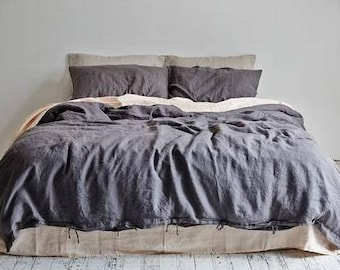 Linen duvet cover. Stone washed linen.Baltic linen bedding. Twin duvet cover.Full duvet cover.Queen duvet cover.King duvet cover.