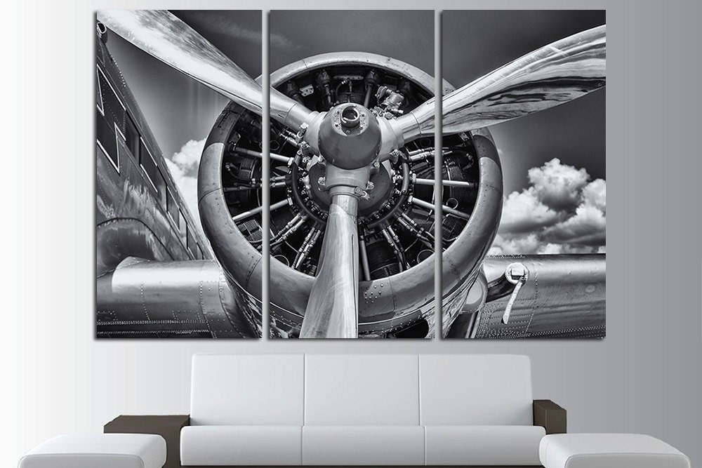 Aircraft Engine Vintage Aircraft Canvas Art Vintage Airplane