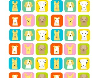 Cute Dog Stickers - Terrier, Chihuahua, Labrador, German Shepherd, Beagle and Dalmatian