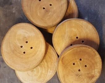 Handmade Cherry Wood Buttons