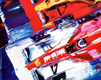 Vintage 1998 Luxembourg Grand Prix Motor Racing Poster A3 Print