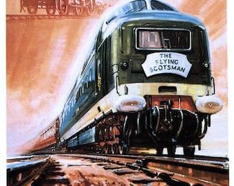 Vintage 1962 British Rail Flying Scotsman Centenary Poster  A3 Print