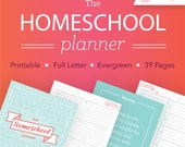 The Homeschool Planner - Printable Homeschool Binder, Visual Schedule, and To-Do List, 39 pages // Household PDF Printables