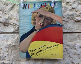 Vintage Marie Claire France August 5, 1938  // Vintage Marie Claire, 1938 // Vintage Marie Claire // Vintage magazine //30s
