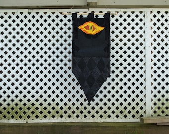 The One Tower // Eye of Sauron Lord of the Rings Fabric Wall Hanging Decoration Tapestry