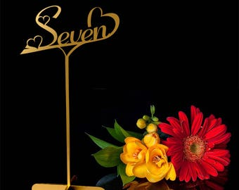 Wedding Table numbers. Gold Table numbers.