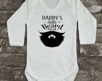beard baby vest daddyu0027s beard puller hipster baby grow baby shower gift