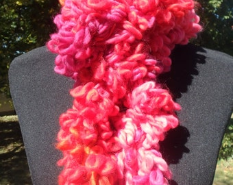 Sunset Plush Loopy Scarf